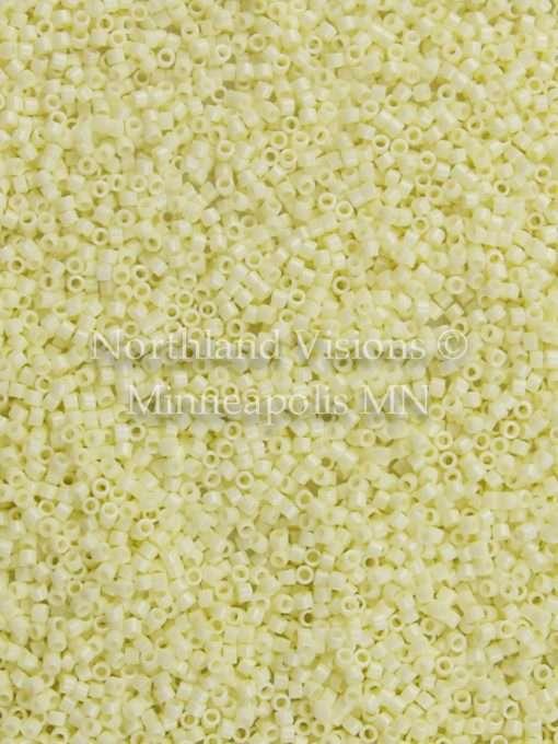 Miyuki Delica Cylinder Bead, DB1491, Opaque Pale Yellow, 11/0 7 grams