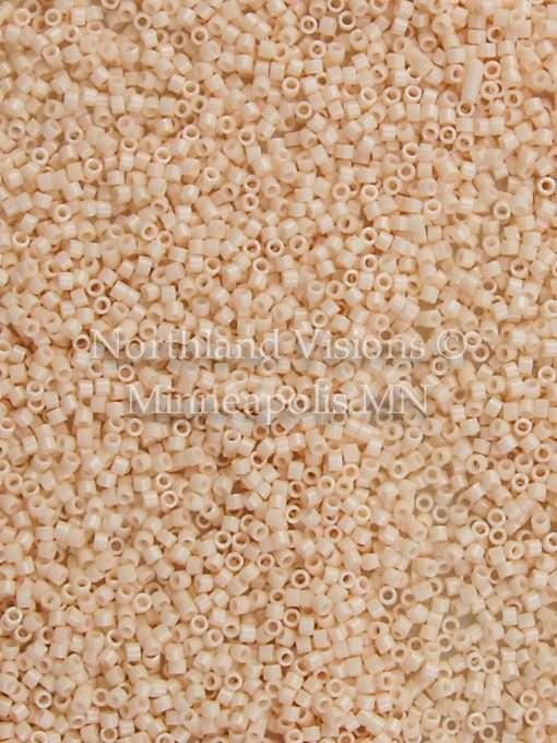 Miyuki Delica Cylinder Bead, DB1492, Opaque Light Peach, 11/0 7 grams