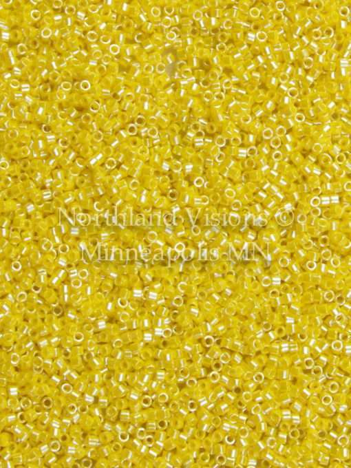 Miyuki Delica Cylinder/Seed Bead, DB1562, Opaque Canary Yellow Luster, 11/0 7 grams