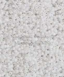 Miyuki Delica Cylinder Bead, DB200/DB0200, Opaque White, 11/0