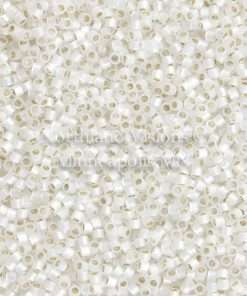 Miyuki Delica Cylinder/Seed Bead, DB0221/DB221, Transparent White Silver Lined Opal, 11/0 7 grams