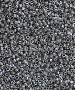 Miyuki Delica Cylinder Bead, DB0268, Opaque Dark Pewter Luster, 11/0 7 grams
