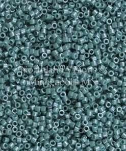 Miyuki Delica Cylinder Bead, DB0264, Opaque Mallard Green Luster, 11/0 7 grams