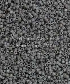 Miyuki Delica Cylinder Bead, DB0731, Opaque Grey, 11/0 7 grams