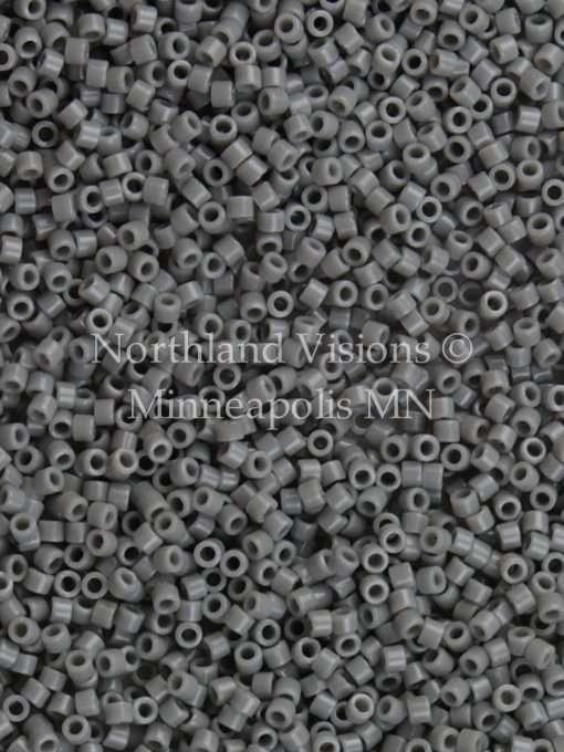 Miyuki Delica Cylinder/Seed Bead, DB0731/DB731, Opaque Grey, 11/0 7 grams