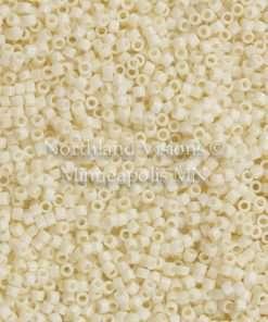 Miyuki Delica Cylinder Bead, DB0732, Opaque Cream, 11/0 7 grams