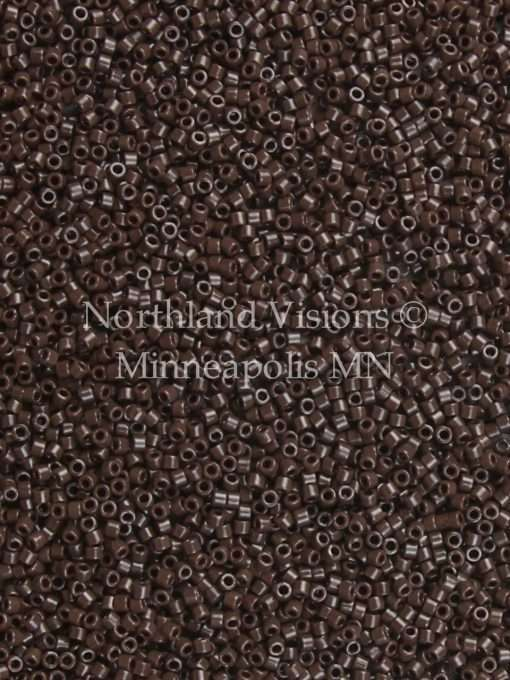 Miyuki Delica Cylinder Bead, DB0734, Opaque Chocolate Brown, 11/0 7 grams