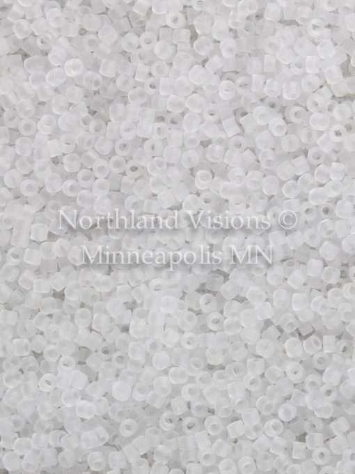 Miyuki Delica Cylinder Bead, DB0741, Transparent Crystal Matte, 11/0 7 grams