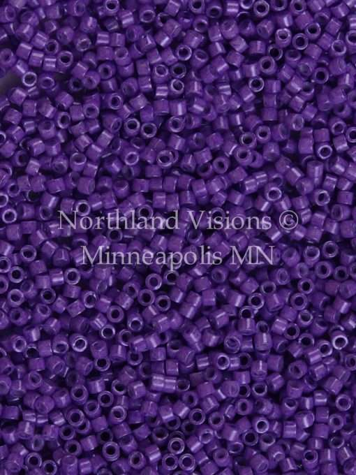 Miyuki Delica Cylinder Bead, DB1379, Opaque Red Violet, 11/0 7 grams