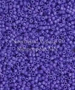 Miyuki Delica Cylinder Bead, DB0661, Opaque Purple, 11/0 7 grams