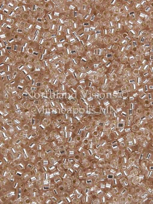 Miyuki Delica Cylinder Bead, DB1203, Transparent Pink Mist Silver Lined, 11/0 7 grams