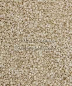 Miyuki Delica Cylinder/Seed Bead, DB1451, Transparent Silver Lined Opal Pale Cream, 11/0 7 grams