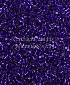 Miyuki Delica Cylinder Bead, DB0610, Transparent Violet Silver Lined, 11/0 7 grams