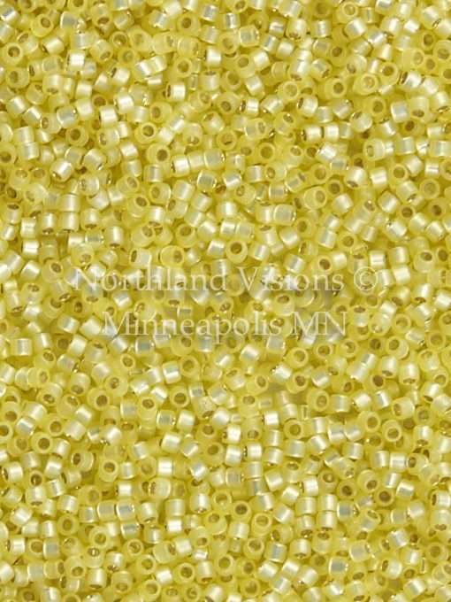Miyuki Delica Cylinder/Seed Bead, DB0623/DB623, Transparent Silver Lined Opal Light Yellow, 11/0 7 grams