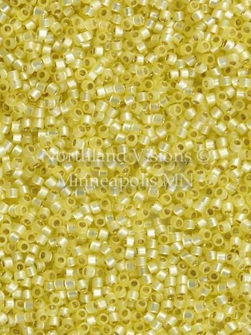 Miyuki Delica Cylinder Bead, DB0623, Transparent Alabaster Silver Lined Light Yellow, 11/0 7 grams