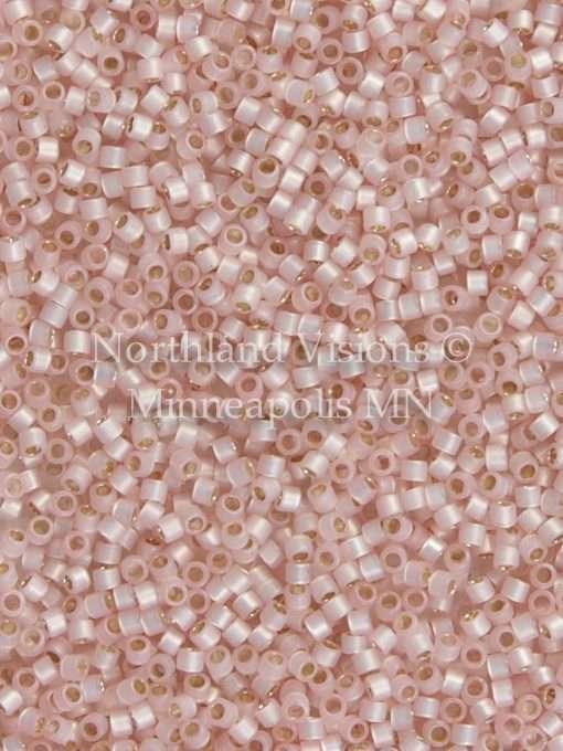 Miyuki Delica Cylinder Bead, DB0624, Transparent Alabaster Silver Lined Light Pink, 11/0 7 grams