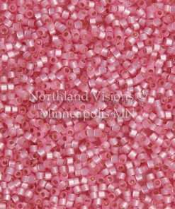 Miyuki Delica Cylinder Bead, DB0625, Transparent Alabaster Silver Lined Pink, 11/0 7 grams