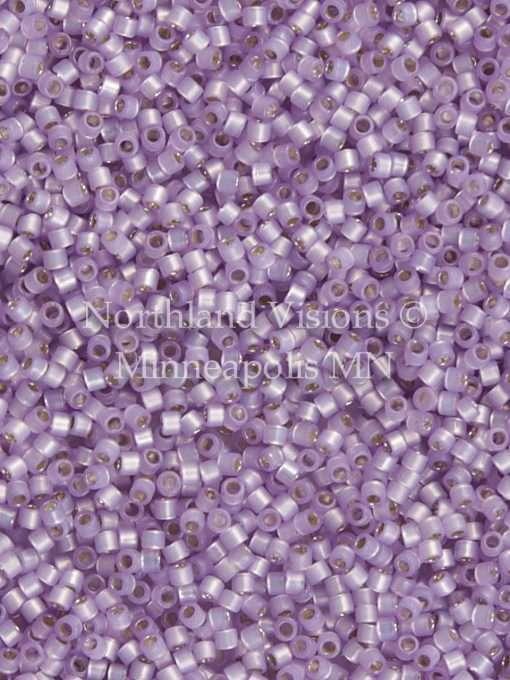Miyuki Delica Cylinder Bead, DB0629, Transparent Alabaster Silver Lined Lavender, 11/0 7 grams