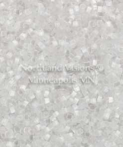 Miyuki Delica Cylinder Bead, DB0635, Silk Satin Crystal, 11/0 7 grams