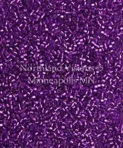 Miyuki Delica Cylinder Bead, DB1345, Transparent Bright Violet Silver Lined, 11/0 7 grams