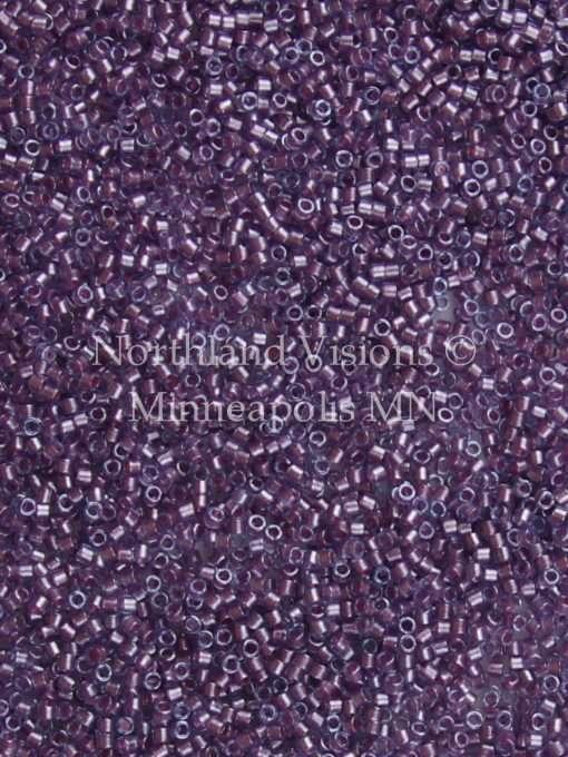 Miyuki Delica Cylinder Bead, DB0922, Transparent Aqua, Color Lined Rose, 11/0 7 grams