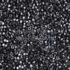 Miyuki Delica Cylinder Bead, DB0001, Opaque Gunmetal, 11/0 7 grams