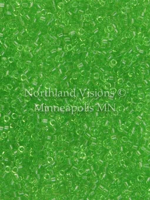 Miyuki Delica Cylinder Bead, DB1106, Transparent Apple Green, 11/0 7 grams