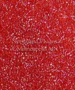 Miyuki Delica Cylinder Bead, DB0172, Transparent Light Siam AB, 11/0 7 grams