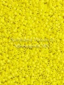 Miyuki Delica Cylinder Bead, DB0721, Opaque Yellow, 11/0