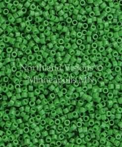 Miyuki Delica Cylinder Bead, DB0724, Opaque Pea Green, 11/0 7 grams