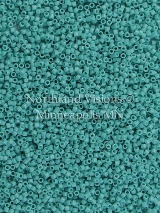 Miyuki Delica Cylinder Bead, DB0729, Opaque Turquoise, 11/0 7 grams