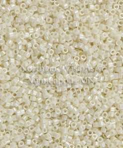 Miyuki Delica Cylinder Bead, DB0203, Opaque Cream Luster, 11/0 7 grams