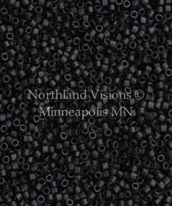 Miyuki Delica Cylinder Bead, DB0310, Opaque Black Matte, 11/0 7 grams