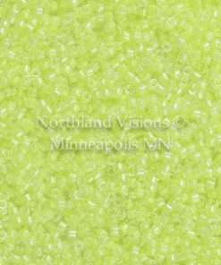 Miyuki Delica Cylinder Bead, DB2031, Luminous Inside Color Lime Aid, 11/0 7 grams