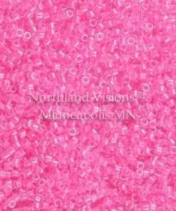 Miyuki Delica Cylinder Bead, DB2036, Luminous Inside Color Cotton Candy, 11/0 7 grams