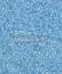 Miyuki Delica Cylinder Bead, DB2039, Luminous Inside Color Ocean Blue, 11/0 7 grams
