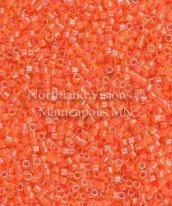 Miyuki Delica Cylinder Bead, DB2047, Luminous Inside Color Bittersweet, 11/0 7 grams