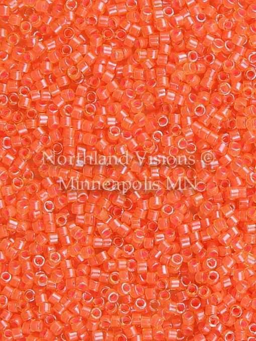 Miyuki Delica Cylinder/Seed Bead, DB2047, Luminous Inside Color Bittersweet, 11/0 7 grams