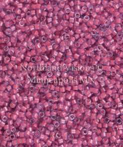 Miyuki Delica Cylinder Bead, DB2048, Luminous Inside Color Pink Taffy, 11/0 7 grams