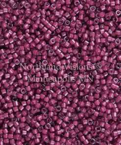 Miyuki Delica Cylinder Bead, DB2050, Luminous Inside Color Jazzberry, 11/0 7 grams