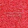 Miyuki Delica Cylinder Bead, DB2051, Luminous Inside Color Poppy Red, 11/0 7 grams