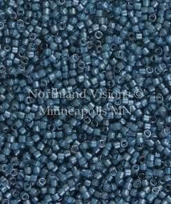 Miyuki Delica Cylinder Bead, DB2054, Luminous Inside Color Dusk Blue, 11/0 7 grams