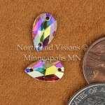 10374-Pear-12x7mm-AB-Sew-on-Crystal