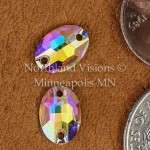 11268-Oval-10x7mm-AB-Sew-on-Crystal