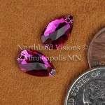 11270-Pear-12x7mm-Fuchsia-Sew-on-Crystal