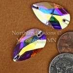 11276-Pear-28x17mm-AB-Sew-on-Crystal