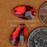 11430-Pear-18x10.5mm-Light-Siam-Sew-on-Crystal