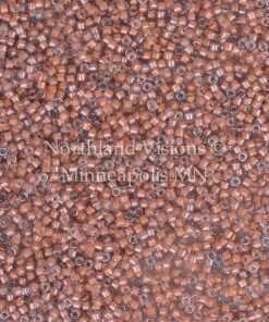 Miyuki Delica Cylinder Bead, DB2042, Luminous Inside Color Sea Coral, 11/0 7 grams