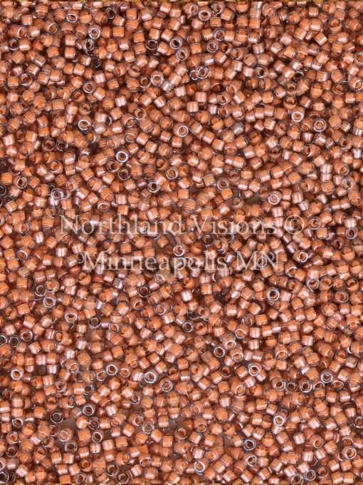 Miyuki Delica Cylinder Bead, DB2044, Luminous Inside Color Guava, 11/0 7 grams