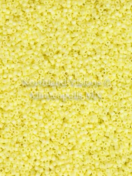 Miyuki Delica Cylinder Bead, DB2101, Duracoat Opaque Light Lemon Ice, 11/0 7 grams